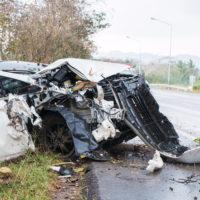 Dangerous Car Accident Debris